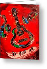 Guitar Jazz Greeting Card