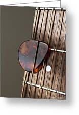 Guitar Neck Frets And Pick Greeting Card