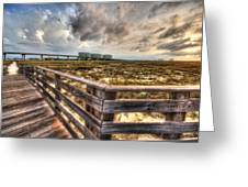 Gulf State Park Boardwalk Corner Greeting Card