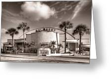 Gulfport Casino In Sepia Greeting Card