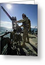 Gunner Mans A M240 Machine Gun Greeting Card