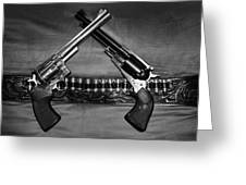Guns In Black And White Greeting Card