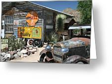 Hackberry Signs   Arizona Route 66 Greeting Card