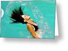 Hair Fling Greeting Card