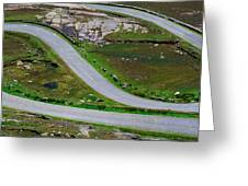 Hairpin Bends In The, Healy Pass, Beara Greeting Card