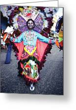 Haiti - Carnaval Indian Outfit Greeting Card