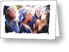 Haitian Chorus Singers Greeting Card