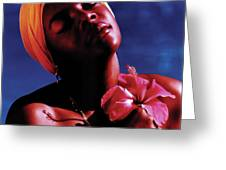 Haitien Hibiscus Beauty Greeting Card