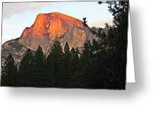 Half Dome Alpenglow Greeting Card