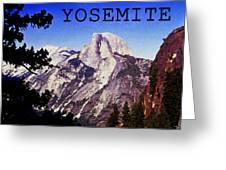 Half Dome Greeting Card