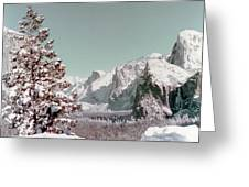 Half Dome In The Snow Greeting Card