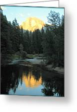 Half Dome Reflection Greeting Card