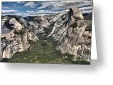 Half Dome Valley Greeting Card
