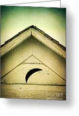 Half Moon On Rurual Outhouse Greeting Card