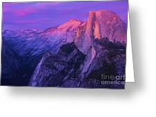Half Purple Dome Greeting Card