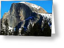Half Way Half Dome Greeting Card