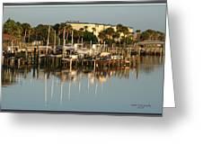 Halifax Boat Dock Greeting Card