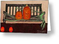 Halloween Decoration Greeting Card