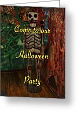 Halloween Party Invitation - Skeleton Greeting Card