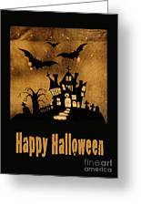 Halloween Quilt Top Greeting Card by Nancy Greenland
