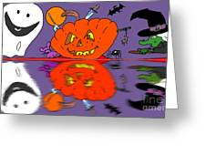 Halloween Reflections Greeting Card