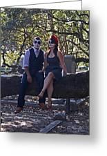 Halloween Romance Greeting Card by Cheri Randolph