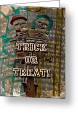 Halloween Trick Or Treat Skeleton Greeting Card Greeting Card
