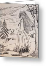 Halloween Witch Walk Greeting Card