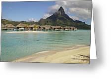 Hammock Island At Bora Bora Greeting Card