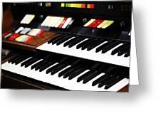 Hammond Electric Organ Greeting Card