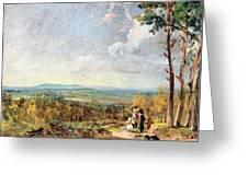 Hampstead Heath Looking Towards Harrow Greeting Card