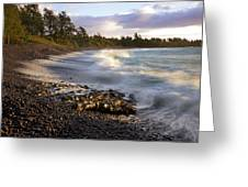 Hana Beach And Wave Greeting Card