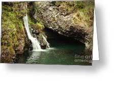 Hana Waterfall Greeting Card by Scott Pellegrin