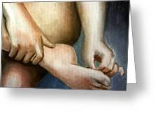 Hand And Foot Greeting Card by Kostas Koutsoukanidis