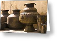 Hand Crafted Jugs, Jaipur, India Greeting Card