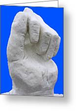 Hand In Snow Greeting Card