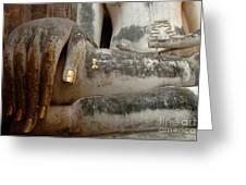 Hand Of Thai Buddha Greeting Card