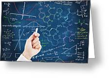 Hand Writing Science Formulas Greeting Card