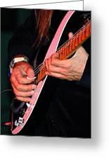Sun In The Hands And Guitar Of Uli Jon Roth Greeting Card