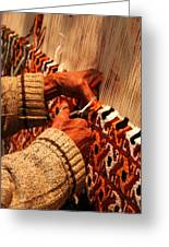 Hands Of The Carpet Weaver Greeting Card