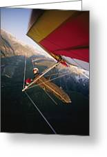 Hang Gliding With Wing-mounted Camera Greeting Card