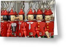 Hanging Pinocchios Puppets Greeting Card