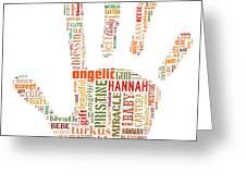 Hannah Hand Orange Greeting Card