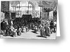 Hannukah Celebration, 1880 Greeting Card