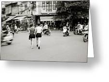 Hanoi Girls Greeting Card