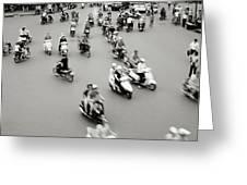 Hanoi Traffic Greeting Card