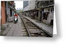 Hanoi Train Tracks Greeting Card