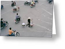 Hanoi Woman Greeting Card