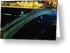 Hapenny Bridge, Dublin City, Co Dublin Greeting Card