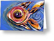 Happified Swirl Fish Greeting Card